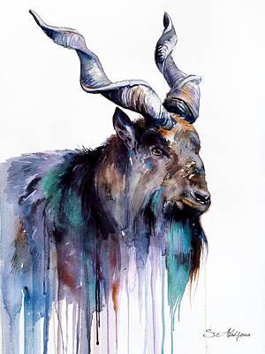 Goat Mixed Media - Goat 3 by Slavi Aladjova