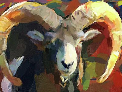Digital Art - Goat Canvas by Yury Malkov