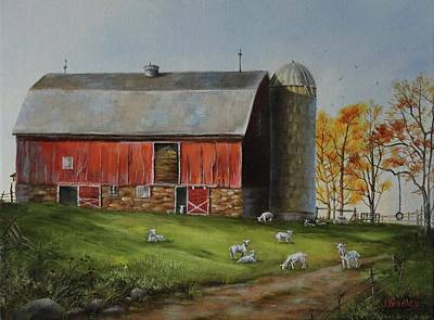 Painting - Goat Farm by Judy Bradley