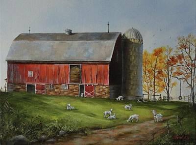 Painting - Goat Farm by Judy Bradley