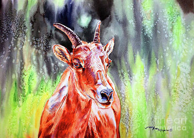 Goat From The Mountain Art Print by Tracy Rose Moyers