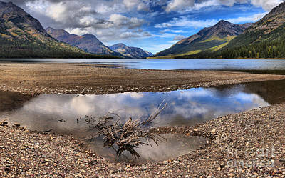 Photograph - Goat Haunt Mountain Reflections by Adam Jewell