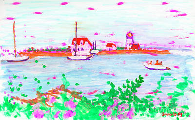 Painting - Goat Island Light by Candace Lovely