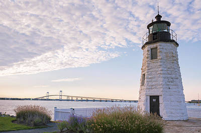 Photograph - Goat Island Lighthouse And Bridge by Marianne Campolongo