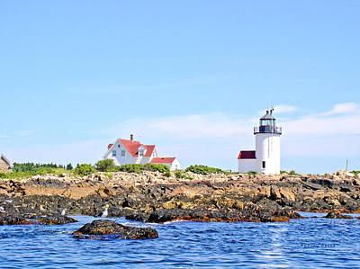 Goat Island Lighthouse, Cape Porpoise, Maine Original by Andrew Syiek