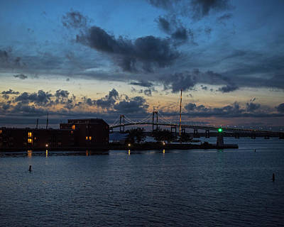 Photograph - Goat Island Lighthouse Newport Ri Hyatt Regency by Toby McGuire