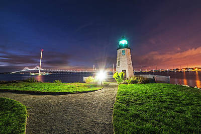 Photograph - Goat Island Lighthouse Newport Ri Path by Toby McGuire