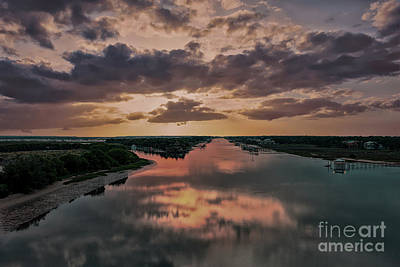 Photograph - Goat Island Salty Sunrise by Dale Powell
