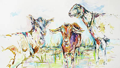 Saanen Goat Painting - Goat Painting By Kim Guthrie Art by Kim Guthrie