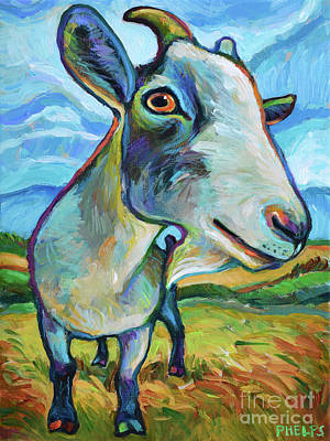 Painting - Goat Painting by Robert Phelps