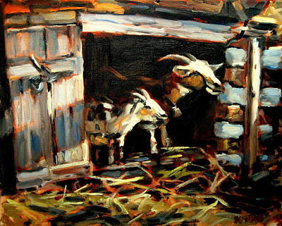 Goat Painting - Goat Shed by Brian Simons