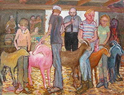 Painting - Goat Show by Paul Emory