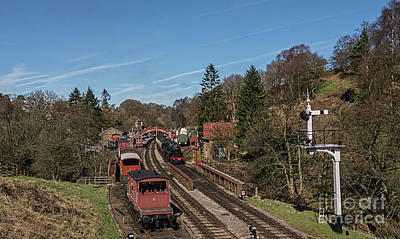 Photograph - Goathland Station by David  Hollingworth