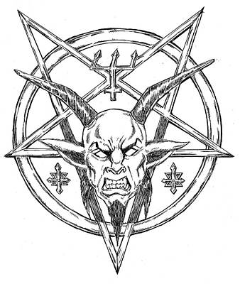 Goatlord Logo Art Print by Alaric Barca