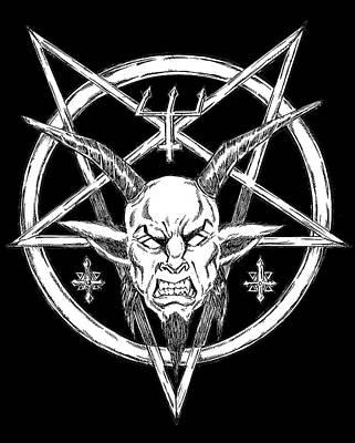 Goatlord Logo Black Art Print by Alaric Barca