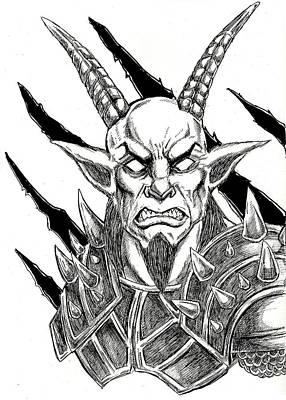Goatlord Metal Claw Strike Art Print by Alaric Barca