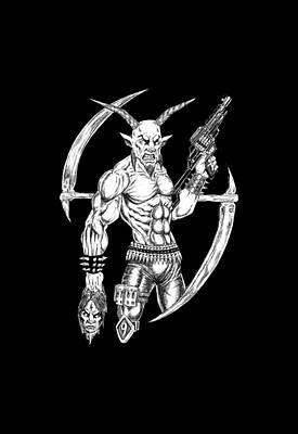 Goatlord Reaper Art Print by Alaric Barca