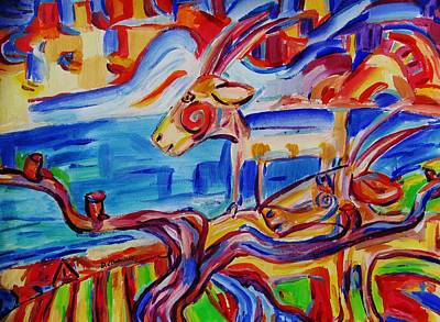Painting - Goats Alive On Goatee Island by Dianne Connolly