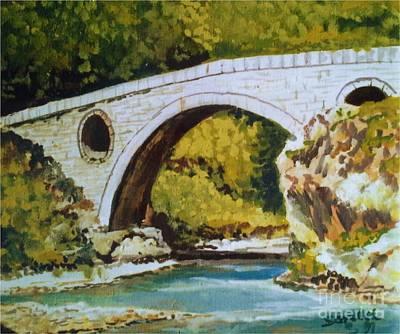 Painting - Goat's Bridge by Sinisa Saratlic