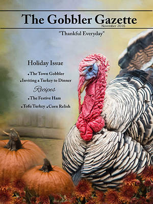 Photograph - Gobbler Gazette by Robin-Lee Vieira
