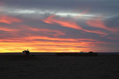 Photograph - Gobi Sunset by Diane Height