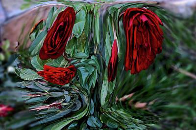 Digital Art - Goblet Of Roses by Aliceann Carlton