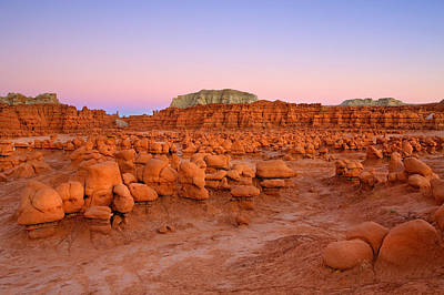 Goblin Valley Photograph - Goblin Glow by Mike  Dawson