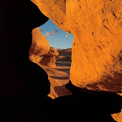 Photograph - Goblin Valley  Look Through by Gary Warnimont