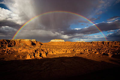 Photograph - Goblin Valley Rainbow by Whit Richardson