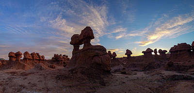 Photograph - Goblin Valley Sunset by Wesley Aston