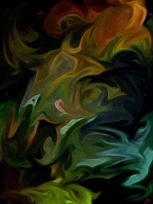 Painting - Goblinz Abstract by Sheila Mcdonald