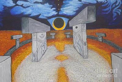 Painting - Goblitechi Vision Eclipse by Ronda Douglas