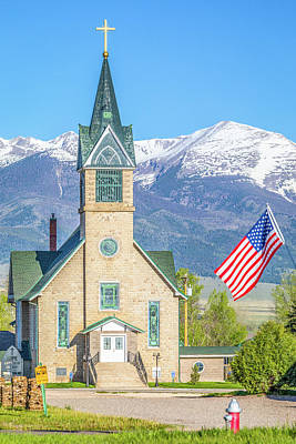 Colorado State Flag Photograph - God And Country by Eric Glaser