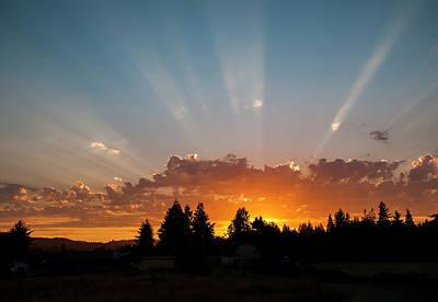 Photograph - God Beams by Robert Potts