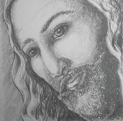 Drawing - God Became Man by Lisa DuBois