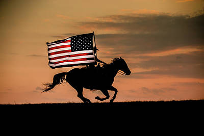 Photograph - God Bless America by Fast Horse Photography