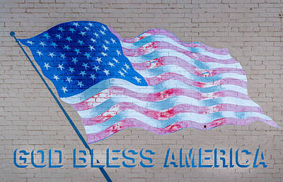 God Bless America Art Print by Jon Manjeot