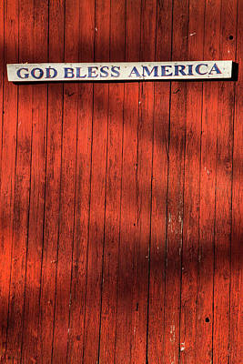 Photograph - God Bless America by Karol Livote