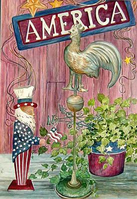 God Bless America Art Print by Lois Mountz