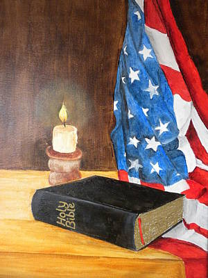 Painting - God Bless America by Marti Idlet