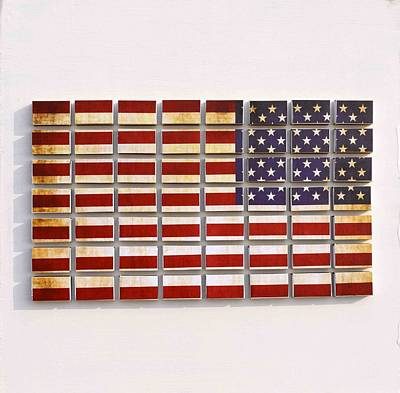 American Flag Mixed Media - God Bless America by Sumit Mehndiratta