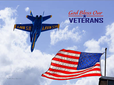 Jet Star Photograph - God Bless Our Veterans by Brian Tada