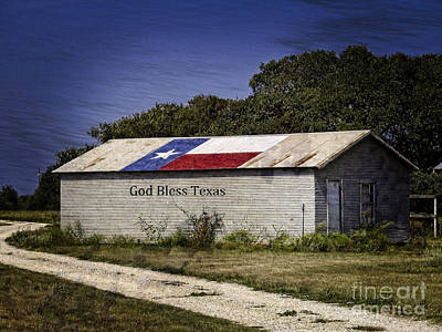 Photograph - God Bless Texas  by Ella Kaye Dickey
