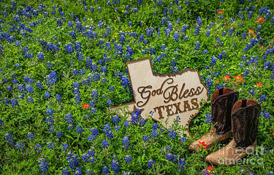 Photograph - God Bless Texas II by John Roberts