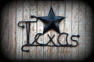 Art Print featuring the photograph God Bless Texas by Kathy  White