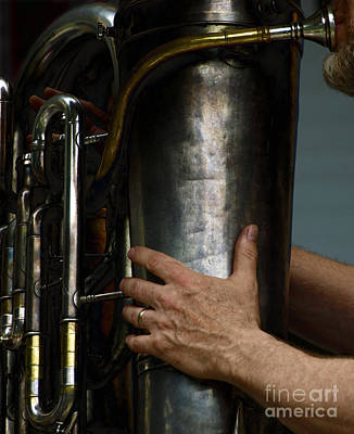 Musician Photograph - God Bless The Tuba by Steven Digman