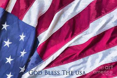 Photograph - God Bless The Usa by Linda Blair