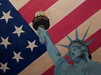 Painting - God Bless The Usa by Patricia Brewer-Cummings