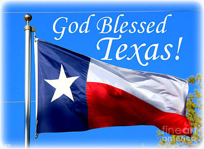 Photograph - God Blessed Texas by Kathy White