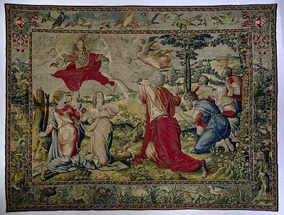 Tapestry - Textile - Textile Tapestry God Blesses Noahs Family Willem De Pannemaker After 1567 by R Muirhead Art